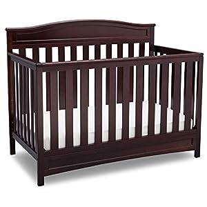 crib bedding and baby bedding delta children emery 4-in-1 convertible baby crib, dark chocolate