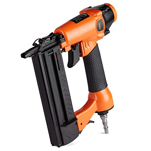 VonHaus Air Nail Gun 50mm 18 Gauge Brad Nailer/Stapler 2 in 1-120 max PSI - Durable Aluminium Housing - Safety Switch for Accidental Firing Prevention - No Nails or Staples Included