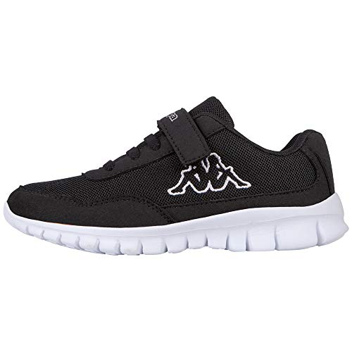 Kappa Follow, Zapatillas Unisex niños, Negro (Black/White 1110), 33 EU