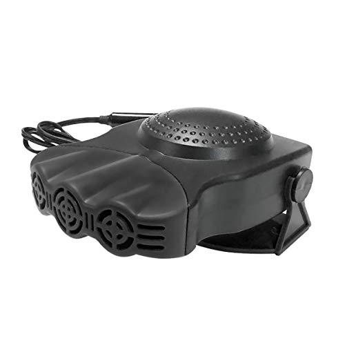 Heiz Lüfter Auto Mobile Innenraumheizung Scheibenenteiser 12V tragbare Schnellheizung mit 300°Drehhalter und Drei Loch Defroster Demister für Windschutzscheibe