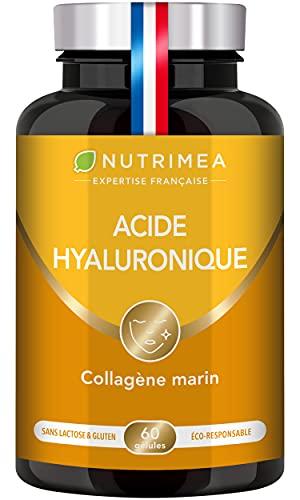 ACIDE HYALURONIQUE PUR & COLLAGENE MARIN - Enrichi en Vitamines A & C - Anti-rides 100% Naturel -...
