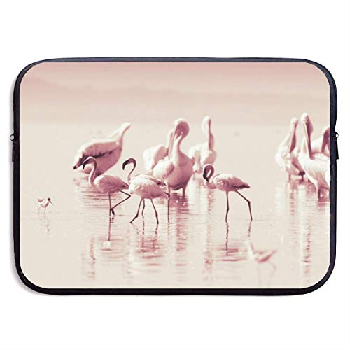 Waterproof Laptop Sleeve 15 Inch, Flamingo Picture Business Briefcase Protective Bag, Computer Case Cover BAG-6235