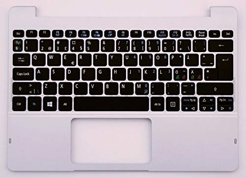Price comparison product image Laptopkey_eu OEM QWERTY NORDIC palmrest with keyboard Switch 10 Switch 10E + service tool set