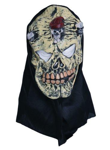 Zombie caoutchouc Masque tête de mort jaune