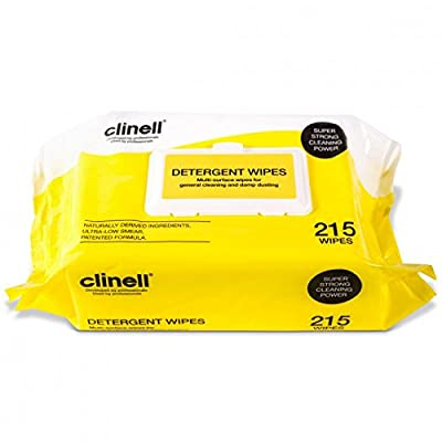 Clinell Detergent Wipes - 22x28cm - Pack of 215 by Clinell by Gama Heathcare Ltd