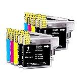 Tinnee - 10 cartuchos de tinta LC985XL compatibles con LC-985 LC985 LC65 LC-985BK LC65BK de repuesto para Brother MFC-495CW MFC-J410W DCP-J125 J315W J515W J140W MFC-J265W J410 J415W J2W 20