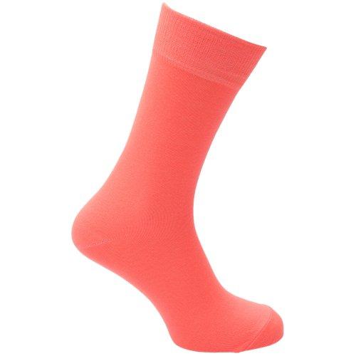 Universaltextilien Herren Socken in Neonfarben (39-46) (Neonorange)