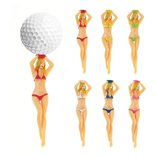 NXX 24 Pcs Bikini Golf Tees Regalo Último Diseño Plastic Golf Tees Fit-Nude Girl-Woman Lady Girl Model Sexy Golf Tees Plastic Golf Ball Tees Novedad Tools Gift Set