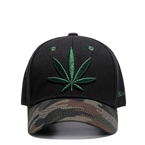 Gorra de Beisbol Bordado Maple Leaf Cap Weed Snapback Sombreros para Hombres Mujeres algodón Swag Hip Hop Equipado Gorras de béisbol