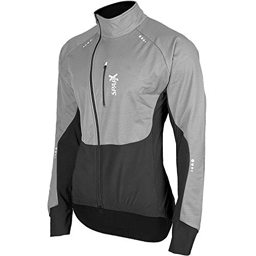 Sparx Performance Winter Cycling Thermal Jacket Bike Windproof High Viz Jersey (Large, Gray)