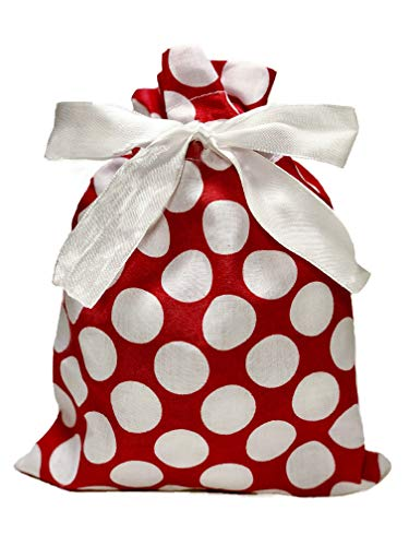 "Appleby Lane Fabric Gift Bags (Standard Set, Red) 100% Cotton, Set of 5 Bags: Three 16""x12"" and Two 10""x8"""
