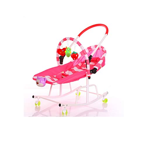 Lowest Prices! JWDYA Baby Cradle Disassemble Metal with Light Music Player Cradle Swings for Baby Ch...