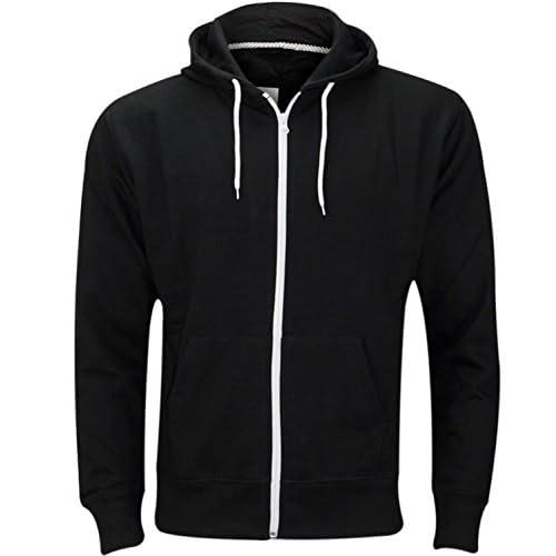 41AOTcGoFYL. SS500  - Mens Plain Colour Zip Up Hoodie Casual Fleece Sweatshirt Hooded Jacket Hoody Top S-5XL