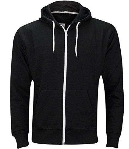 Mens Plain Colour Hoodie Hoody Hooded Sweatshirt Casual Summer Work Wear Fleece Zip Up Jacket Tops UK Size S-5XL