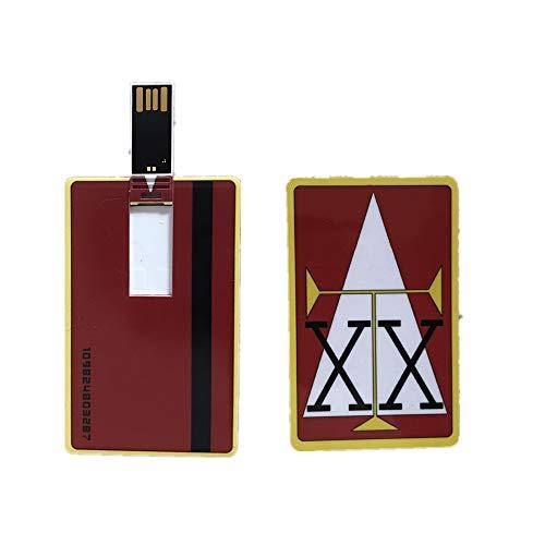 Hunter x Hunter License Card USB Stick GING Freecss Japan Anime Card USB Flash Drive(Red)