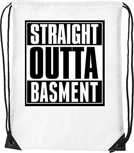 Straight Outta Basement Slogan Palestra per escursionismo a sacco con coulisse
