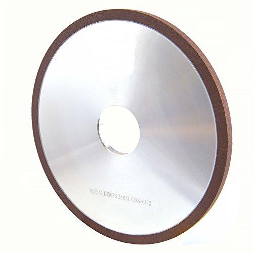 MaxTool Diamond 1A1 Plain Grinding/Abrasive/Polish Wheels OD 6' Bore 1.25' T0.25' G150 Resin Bond NDR1A1D6T06X6G15M