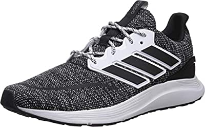 adidas Men's EnergyFalcon Running Shoe, Black/White, 9 M US