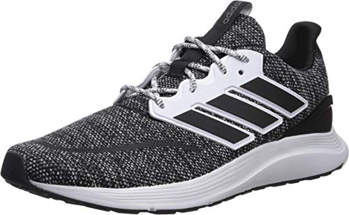 adidas Men's EnergyFalcon Running Shoe, Black/White, 12 M US