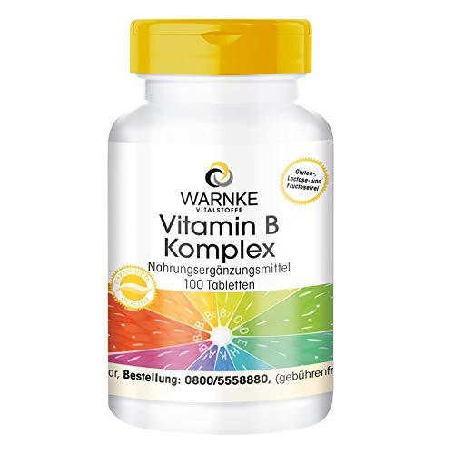 Vitamin B Komplex hochdosiert - enthält Alle B Vitamine - vegan - 100 Tabletten