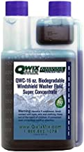 Qwix Mix Windshield Washer Fluid Concentrate, 1 Bottle Makes 880 Gallons, 1 oz. Makes 55 Gallons - 100% Biodegradable Grime & Dirt Remover, Superior Commercial Grade Glass Cleaner