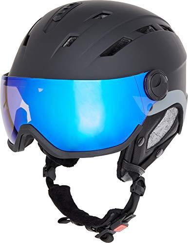 TECNOPRO Heren Pulse HS-016 Visor Photochromic Ski-helm, BLACK/CHROME, M/L