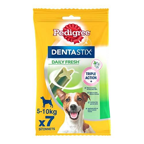 Pedigree Dentastix Fresh - Friandises pour petit chien, 70 bâtonnets à mâcher pour l'hygiène bucco-dentaire (10 sachets de 7 Sticks)