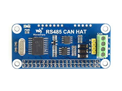 Waveshare RS485 Can Hat for Raspberry Pi Zero/Zero W/Zero WH/2B/3B/3B+ Allows Stable Long Distance Communication