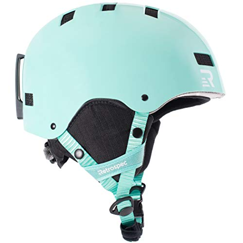 Retrospec Traverse H1 Ski & Snowboard Helmet, Convertible to Bike/Skate, Teal Gloss, Medium (55-59cm)
