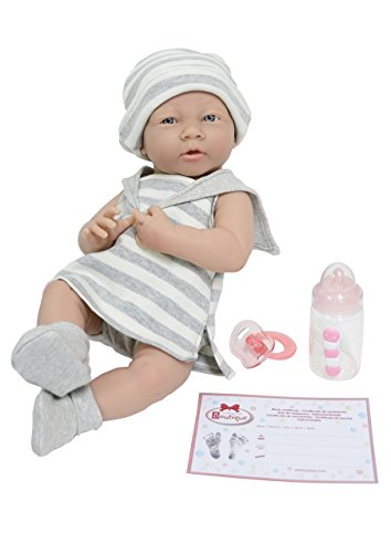 JC TOYS- Muñecos bebé, Color Grey, White (18518)