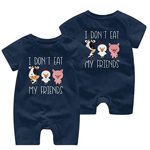 Combinaison à manches courtes « I Don't Eat My Friend » 0-24 mois - - 2 ans