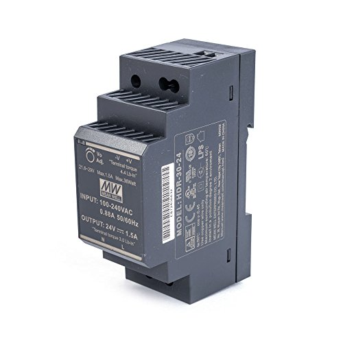 MEAN WELL HDR de 30-24Carril Fuente de alimentación 36W 24V 1,5a Ultra Slim Fuente de alimentación conmutada