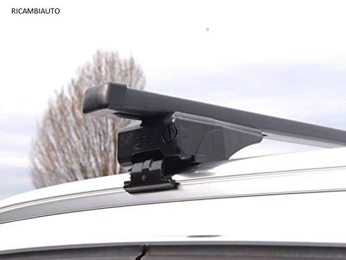 RICAMBIAUTO Barras portaequipajes de Hierro de Repuesto para Fiat 500X SUV (15>) rieles Cerrados