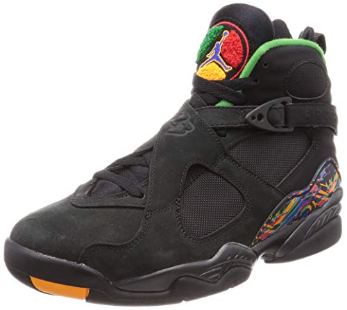 Nike Air Jordan 8 Retro, Chaussures de Fitness Homme, Multicolore (Black/Light Concord/Aloe Verde 004), 42 EU
