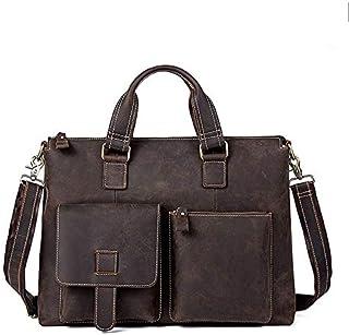 FYXKGLan Men's Business Retro Genuine Leather Cross Handbags Single-Shoulder Messenger Bag (Color : Coffee)