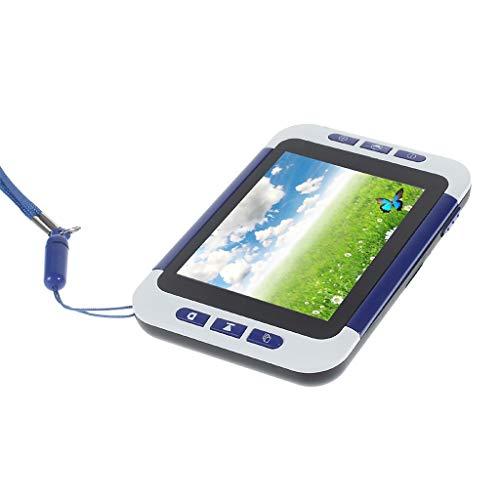 ZWB Visuelle Hilfe Für Tragbare Digitale Videolupe Mit Sehbehinderung Elektronische Lesehilfe 3,5-Zoll-LCD-Bildschirm 2x-32x Zoomvergrößerungen