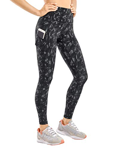 CRZ YOGA Mujer Naked Feeling Leggings Deportivas Cintura Alta Yoga Fitness Pantalones con Bolsillo-63cm Camo Multi 3 36 🔥