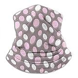 Linger In Patrón geométrico Ovalado Círculos Resumen Pálido Diseño elíptico Vintage Cálido Taupe Rosa Crema Calentador de Cuello Polaina