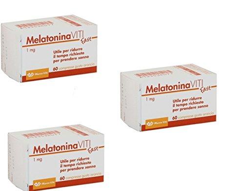 3X Melatonina Viti Fast da 1 mg 180 CPR gusto arancia migliora qualità sonno