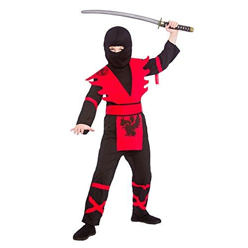 Wicked Costumes - Disfraz de Ninja Para Niños Talla Pequeña 3-4 Años (110-122Cm)