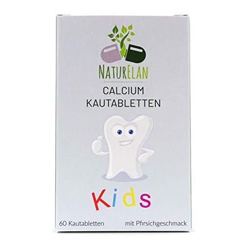 Calcium Tabletten für Kinder - NaturElan, 60 Lutsch-Tabletten, Kalzium Tabletten, kids Calcium, Kalzium Kinder - Kalzium trägt zum Erhalt normaler Knochen bei