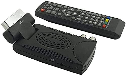 Decodificador satélite digital terrestre mini DVB-T2 DVB-T3 USB HDMI toma euroconector HD-333