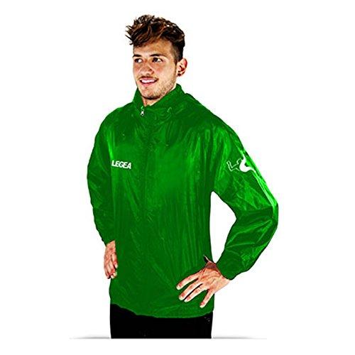 LEGEA Rain Line Veste coupe-vent unisexe pour adulte, Mixte, vert, XXL