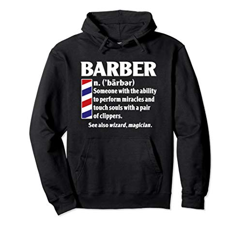 Cool Best Barber Definition Gift - Miracles With Clippers Pullover Hoodie