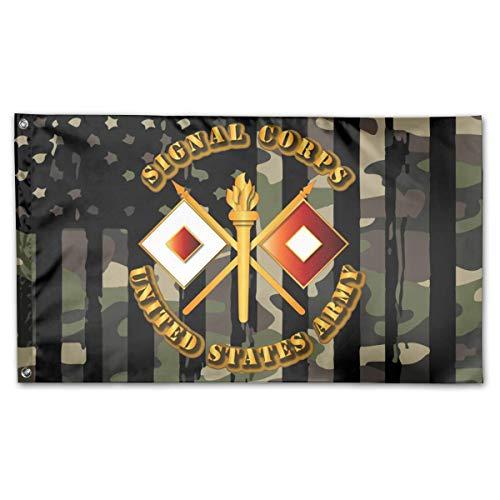 Alive Inc Amerikanische Flagge von den USA Veteranen besaßen US Army Signal Corps Flagge 3x5 Ft