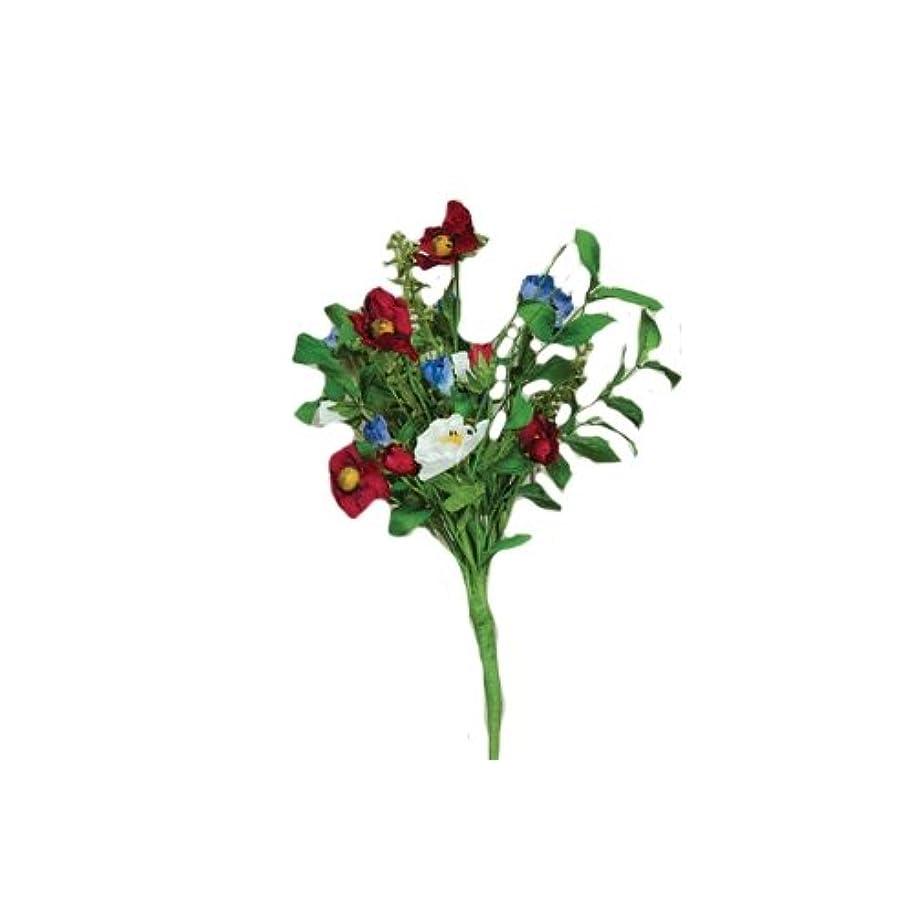 CWI Gifts Americana Poppy Bush, 16-Inch, Red/White/Blue