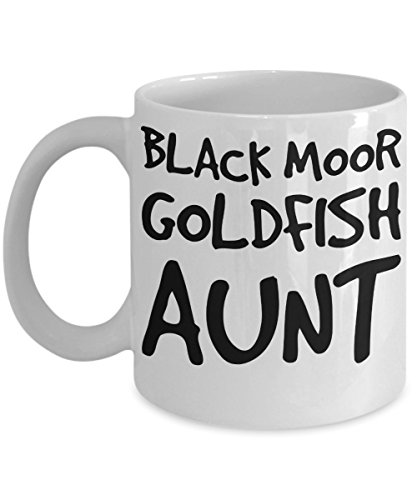 Black Moor Goldfish Aunt Mug - White 11oz 15oz Ceramic Tea Coffee Cup - Perfect For Travel And Gifts