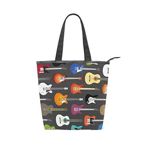 FANTAZIO - Bolso de mano para mujer, diseño de guitarras eléctricas