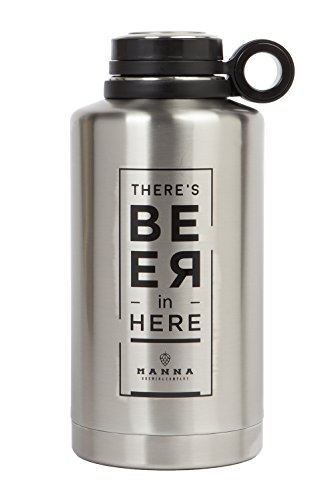 64oz Vacuum Insulated Stainless Steel Craft and IPA Beer Growler by Manna Ring