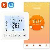 aixi-SHS Wi-Fi termostato suelo calefacción por agua - Amazon Alexa echo/Google Home/IFTTT - pantalla táctil LED tempeature TuyaSmart/Smart Life App control